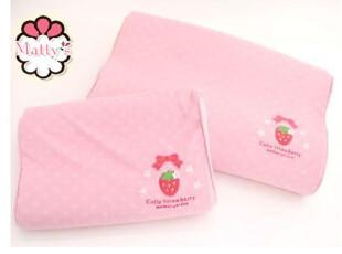 好品质Mother garden草莓记忆枕+草莓枕套 儿童款 0.52KG,床品,