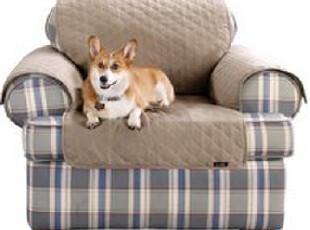 【纽约下城公园】 防抓防毛纯棉宠物一体式沙发垫 单人(三种颜色,床品,