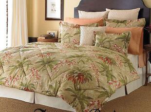 【纽约下城公园】热带花朵图案床品套件 两种尺寸可选,床品,