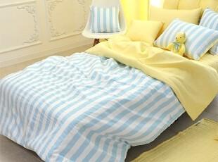 【Asa room】韩国进口代购床品 简约条纹被套床罩四件套 c815,床品,
