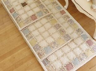 韩式拼图布艺沙发垫 坐垫 飘窗垫 绗缝防滑门垫定做地垫,床品,
