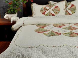 F2180 外单尾货 拼布绗缝 绣花工艺 经典款 绗缝被 四件套,床品,