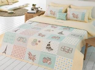 【Asa room】韩国进口代购床品 卡通夏凉被棉空调被四件套 c801-y,床品,
