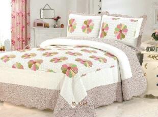 外贸绗缝布艺斜纹全棉绣花印花床上用品四件套夏凉被空调被包邮,床品,