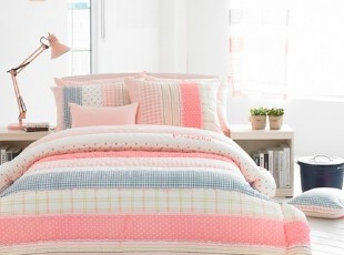 【Asa room】韩国进口床品公主粉色卡通儿童纯棉四件套代购c755-p,床品,