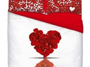 意大利 专柜代购 Bassetti 玫瑰花瓣 双人床笠四件套 床上4件套,床品,