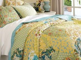 简单的奢华  天然棉纯手工缝制彩色拼花空调被绗缝被  限时9折,床品,