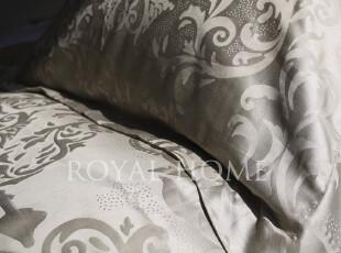 800根R*LPHLAUREN全棉贡缎高端提花柔软丝光50*75香槟裙边枕套1对,床品,