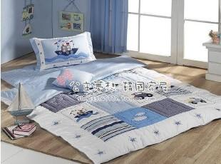 ★公主梦想★韩国家居*蔚蓝色旅行*儿童地床套装/床品套装 M1338,床品,