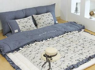 【Asa room】韩国进口代购床品埃菲尔铁塔被子地板用四件套c479-1,床品,