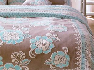 『韩国网站代购』典雅风情华贵花色蕾丝边超细纤维床品套件,床品,