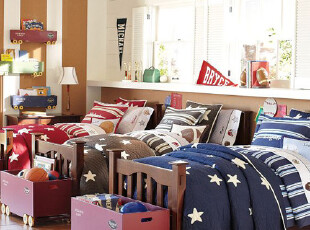 夏日特惠美国进口-美式家居STAR绗缝被被子单品 蓝色款 国内现,床品,
