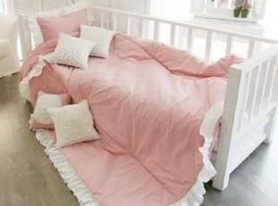 『韩国定做床品』A154 浪漫满屋*公主漂亮木耳边粉色床品套件,床品,