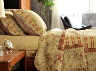 JF2940 外贸  床盖 美式绗缝被三件套 全棉空调被,床品,
