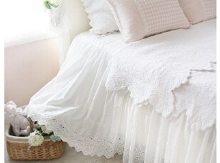 韩国进口床品代购*衍缝纯棉床单床罩单品床笠/床裙OR8-17(定做),床品,