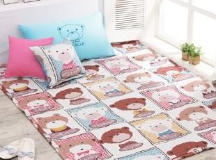 【Asa room】韩国进口代购床单 卡通小熊儿童纯棉地毯爬行垫dc190,床品,