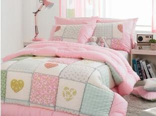 韩国进口床品公主儿童纯棉被子四件套代购,床品,