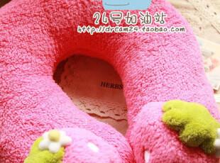 出口日本 mother garden 草莓u枕 颈枕 颈椎枕  香薰头枕 u型枕,床品,