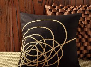 F2203-4 外贸单 60%羊毛面料 麻线提花 精品靠枕套(不含芯),床品,