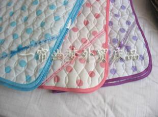 出口日单小提花印花绗缝床单/薄垫100*205(有固定带),床品,
