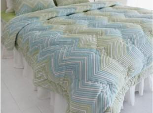 韩国代购简约田园条纹绿色婚庆床品套件1.5床上用品四件套,床品,