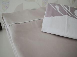 外贸 床单+2枕套 三件套 纯棉贡缎 纱支60S 宽边圆角 240*250CM,床品,