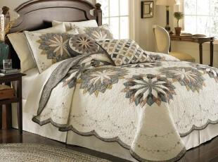 美国代购正品BedBath&Beyond太阳花刺绣绗缝被床品单件,床品,