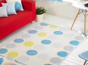 【Asa room】韩国进口代购床单 蓝色圆点可爱地毯爬行垫 dc180-b,床品,