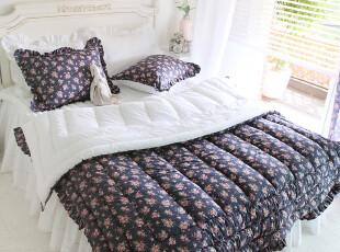 【Asa room】韩国进口代购床品 深色小碎花被子枕套三件套 c853,床品,