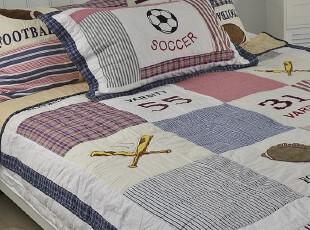 男孩床上用品 外贸原单 美式儿童绗缝空调被 夏凉被 床盖 两件套,床品,