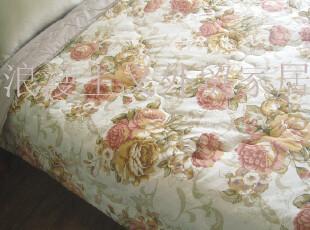 外贸 全棉双人被 田园风格绗缝双人春秋被 空调薄被220*230,床品,