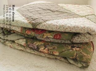 特 外贸●纯棉制仿旧古典感 拼布绗缝被 空调被 春秋多用被三件套,床品,
