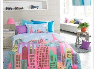 ㊣韩国进口床单.被子.枕套 儿童床品 梦想城堡,床品,