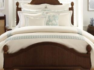 美国代购正品BEDBATH&BEYOND刺绣被套 枕套 枕头套件,床品,