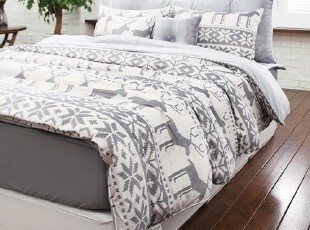 【Asa room】韩国进口代购床品 卡通小鹿儿童被套四件套 c608-gr,床品,