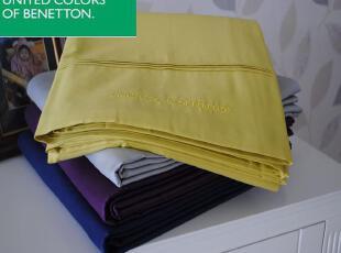 意大利大牌 Benetton贝纳通 大规格 100%纯棉 床单/床罩 60S刺绣,床品,