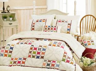 【Asa room】韩国进口代购床品 简约田园风纯棉床品四件套 c722,床品,