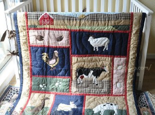 农家趣~手工绗缝被、童被、挂毯,床品,