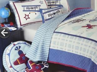 美式 贴布绣绗缝空调被 外贸原单 纯棉少年儿童 夏凉被   两件套,床品,