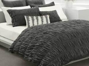 现代简约宜家风 美国代购正品横褶裥被套枕套多件套,床品,