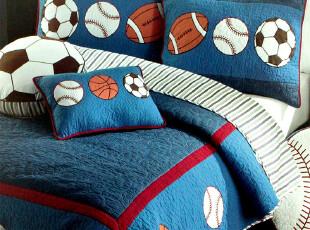 外贸原单 蓝精灵纯棉绗缝被二件套 儿童被 夏凉被 床盖 空调被,床品,