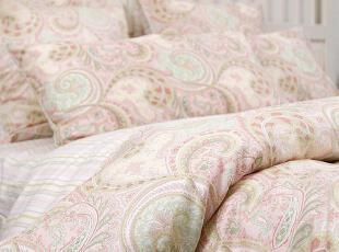 复古 美式乡村条纹佩斯利全棉床品四件套六件套 田园床上用品外贸,床品,