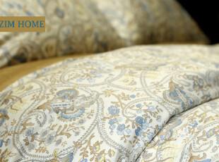 ZIM HOME 外贸原单床上用品活性印花四件套古丽斯的花纹英式乡,床品,