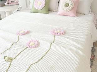 韩国进口床上用品 立体绣花夏用被/空调被 绗缝被三件套 OR80012,床品,