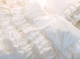 『韩国网站代购』轻柔风语 清新风格多层荷叶花边床品套件,床品,