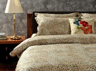 F2486 60支全棉 时尚 3色色织 豹纹 四件套,床品,