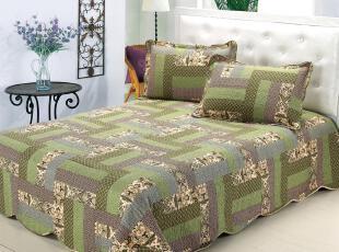 欧式 宜家风格 全棉绗缝被 床盖 波浪边 空调被 床品三件套,床品,