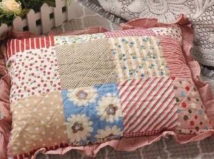 全棉布艺绗缝小枕头 颈枕 儿童枕 宝宝枕 婴儿枕头 迷你枕 定型枕,床品,