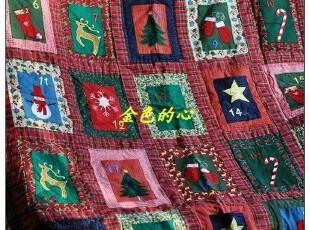 新!圣诞款~精致手工绗缝被、可做挂毯 0.8KG,床品,