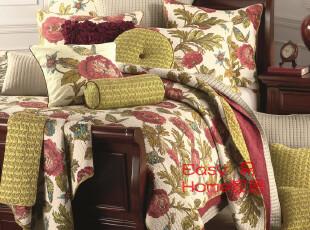 绽放的雏菊 外贸 美式乡村 全棉绗缝被 床盖 纯棉空调被 三件套,床品,